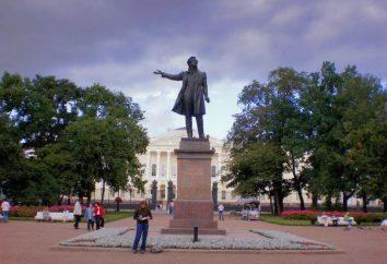 Jaki jest pomnik Puszkina w Petersburgu, dzieło Anikushin