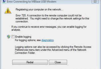 """""""720 errore"""". """"Errore 720"""" quando la connessione a Internet"""