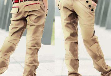Los pantalones con bolsillos a los lados de los dos hombres llamados?