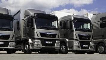 Le volume de camions en cubes
