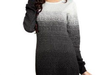 Um vestido tão chique e simples (tricô com agulhas de tricô para mulheres)!