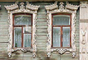 Przyciąć na okna w drewnianym domu. rodzaje osłonek