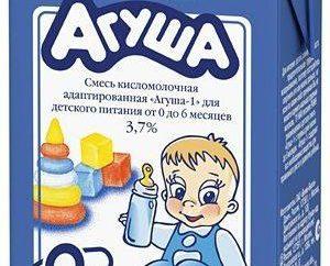 """A confirmação da escolha correta de comida para bebé """"Agusha"""" (leite fermentado com 0 meses): comentários"""