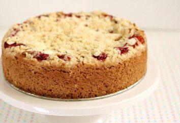 Torta con ciliegie e ripieno panna acida. gustose ricette