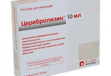 "Opinie: ""Cerebrolysin"" dla dzieci. Opis preparatu"