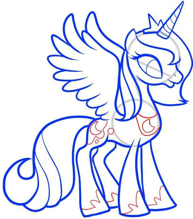 Cómo dibujar una princesa de la luna de los dibujos animados \
