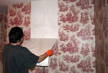 Comment déchiffrer le vieux papier peint. Comment supprimer facilement les vieux fonds d'écran