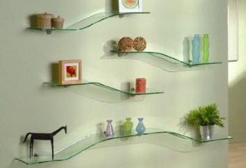 étagère en verre – décoration intérieure élégante