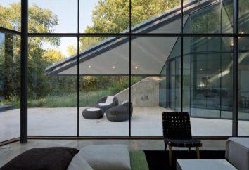 Les murs de verre comme un moyen de compléter l'intérieur