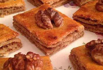 Baklava: kalorii, skład, dieta przepisy, deser turecki miód