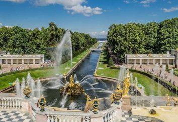 Peterhof, der obere Park: Skulpturen, Brunnen, Fotos
