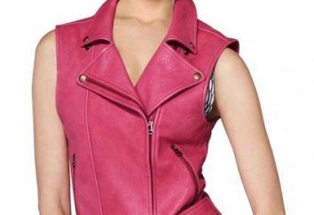 chaleco de cuero de las mujeres de moda