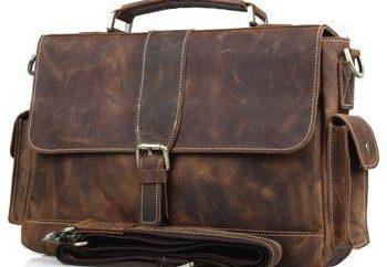 porte-documents en cuir pour hommes de marque: types, caractéristiques et commentaires des internautes