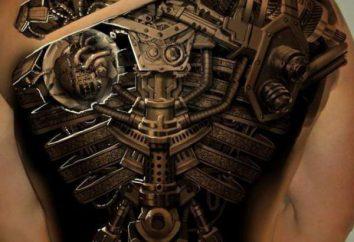 Rzeczywisty kierunek tatuażu to steampunk. Cechy stylu