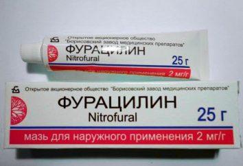 pomada Furatsilinovoy: instruções de uso