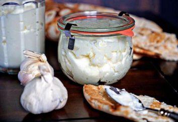 panna acida e salsa di aglio: ingredienti della ricetta
