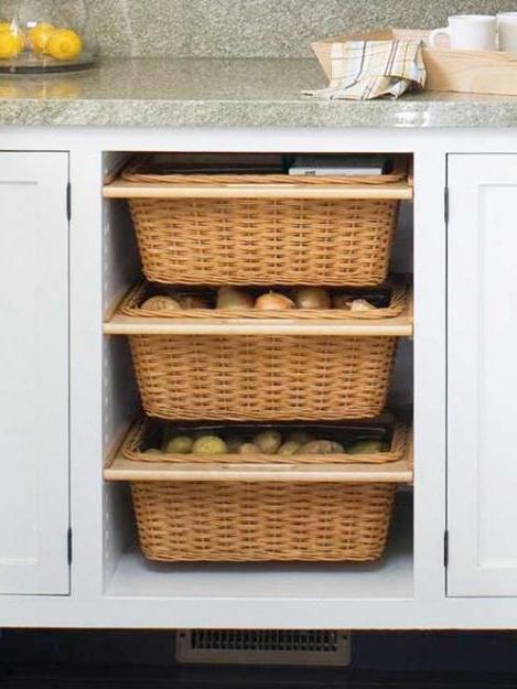 System Przechowywania Do Kuchni Drut Kosz Do Szaf
