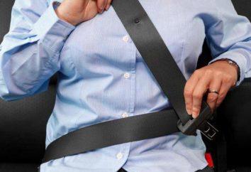Pénalité pour les ceintures de sécurité: la taille, les exigences et recommandations