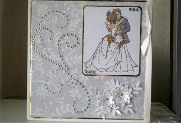 Tutto per il matrimonio. Cartolina con le mani sul matrimonio