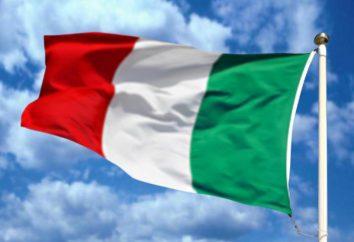 Bandiera d'Italia. I colori della bandiera nazionale d'Italia