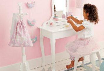 Mesa de vestir para a menina – que tipo de mobiliário?