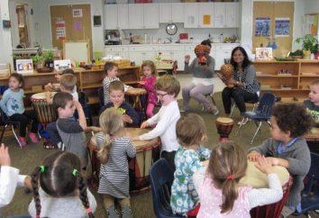 Musikunterricht in der mittleren Gruppe von Kindergärten