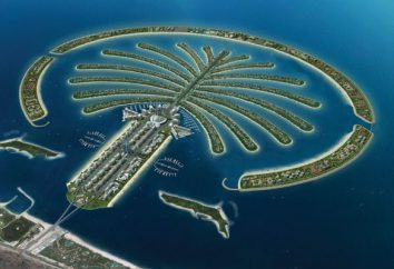Palm Jumeirah, Zjednoczone Emiraty Arabskie. Opis sztucznych Palm Islands w Dubaju