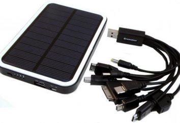 solare per la ricarica del telefono. fonti alternative di approvvigionamento