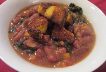 Zupa fasolowa: przepis. Bean zupa z czerwonej fasoli z mięsem