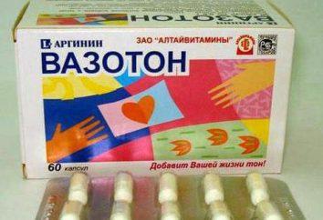 """Il farmaco """"Vazoton"""": istruzioni per l'uso, le indicazioni"""