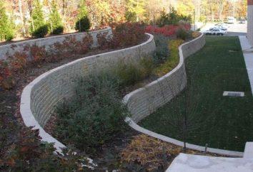Características da construção de muros de contenção