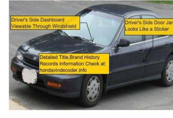Przydatne informacje: dekodowanie kodu samochodu samochodowego