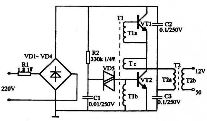 Elektronischer Transformator: Schaltplan