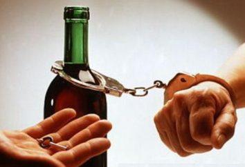 Se aplicar uma gota de dependência de álcool, sem o conhecimento do paciente. Fundos de alcoolismo