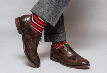 Jak nosić brązowe buty ze skarpetkami?