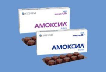 """""""Amoxil"""": instrukcja, opis przygotowania, wskazania, przeciwwskazania, analogów"""