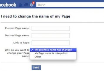 """Für Informationen darüber, wie """"Facebook"""", um den Namen zu ändern"""