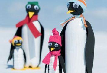 Wie ein Pinguin aus einer Plastikflasche machen? Die Erzeugnisse aus Kunststoff-Flaschen