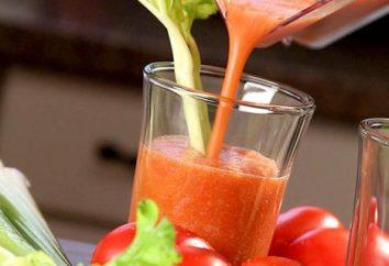 Cocktail de légumes: recettes. smoothies de légumes dans un mélangeur