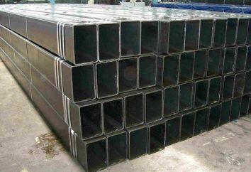 tuyaux Profil: taille. tubes profilés en acier