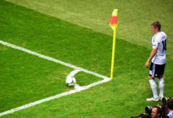 Um canto no futebol – uma posição padrão perigoso