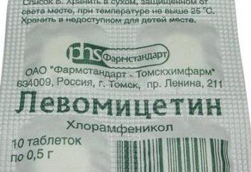 """""""Chloramphenicol"""" – Tabletten von dem, was? Pill """"Chloramphenicol"""": Instruktion, Lesungen"""