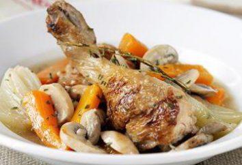 Pollo con funghi, brasato in modi diversi. ricette e le regole di cottura Interessante