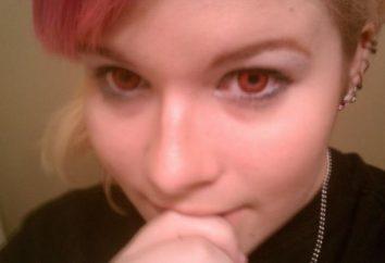 lentilles rouges pour les yeux