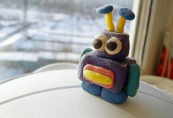 O robô é feito de plasticina: como fazer um brinquedo com as mãos