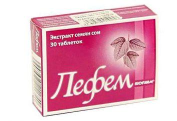 """""""Lefem"""": comentários de Mulheres, manual de instruções. Os comprimidos em menopausa afrontamentos"""