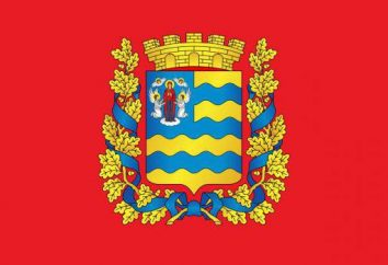 Bandera y el escudo de armas de Minsk. Símbolos de la capital bielorrusa