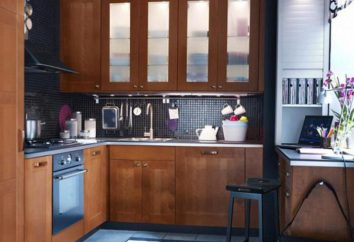 Projeto da cozinha 7,7 metros quadrados. m com as mãos: foto