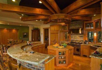 projektowanie kuchni w drewnianym domu: przegląd, funkcje wewnętrzne i fajne pomysły