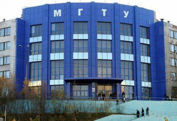 Murmansk Universidad Estatal Técnica: departamentos